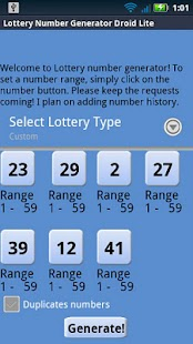 GA Lottery Droid Lite - screenshot thumbnail