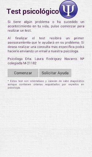 Test y ayuda psicologica