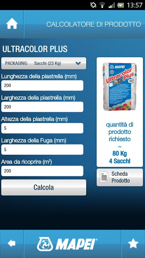 Mapei Mobile- screenshot