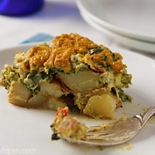 Potato and Broccoli Rabe Casserole.
