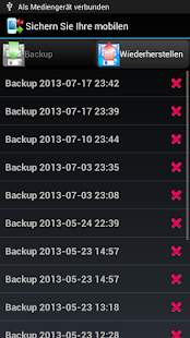 Sichere dein Handy - Backup Screenshot