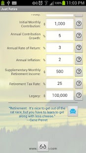 Just Retire (Retirement Calc)- screenshot thumbnail