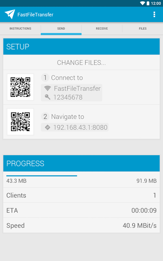 Fast File Transfer - screenshot