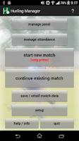 Screenshot of GAA Hurling Manager