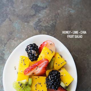 Simple Honey Lime Chia Dressing for Fruit Salad