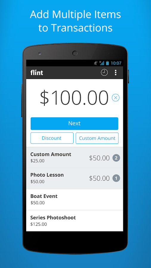Flint - Accept Credit Cards- screenshot