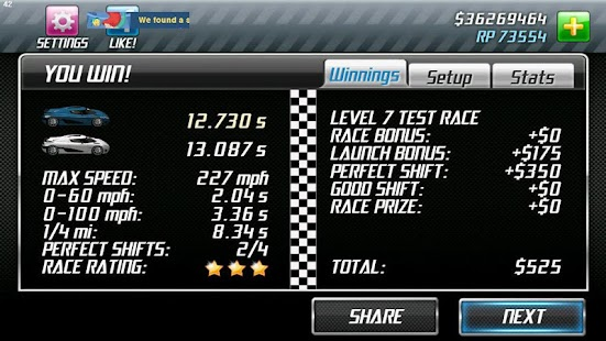 Drag Racing Pro Setups - screenshot thumbnail