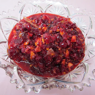 Cranberry, Tangerine And Crystallized Ginger Relish.