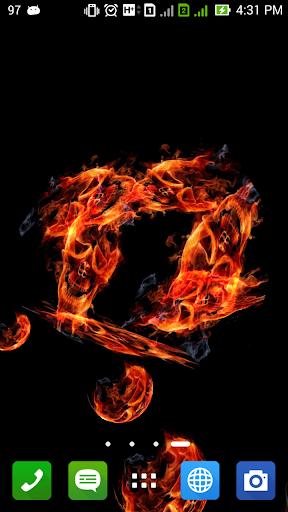 可怕的骷髏火災3D壁紙