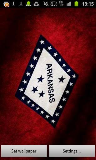 Arkansas Flag Live Wallpaper