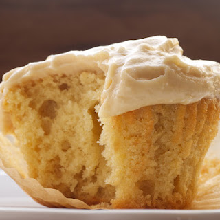 Brown Sugar Pound Cakes with Brown Sugar Cream Cheese Frosting.