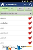 Screenshot of 30,000 Baby Girls Names FREE!