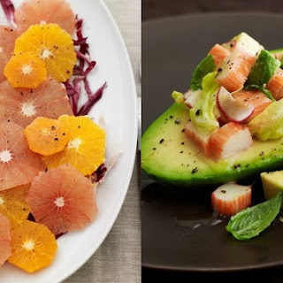 Winter Citrus Salad and Avocado Salad