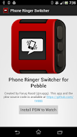 Screenshot of Pebble Phone Ringer Switcher