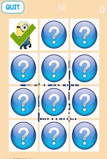 Minion Memo Games