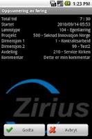 Screenshot of Zirius Timetracking