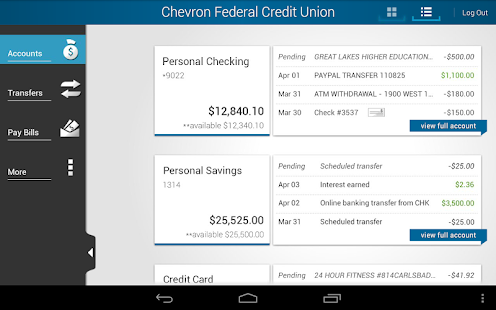 Chevron FCU Mobile Banking - screenshot thumbnail