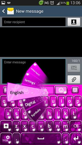 GO键盘粉红色的爱
