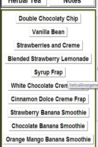 non-coffee menu from starbucks