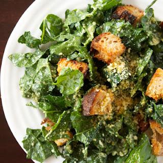 Vegan Kale Caesar Salad.