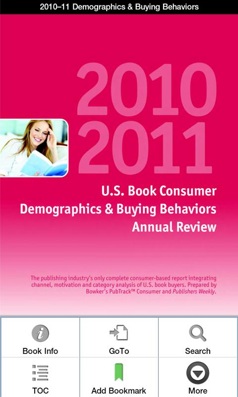 2010–11 Consumer Demographics - screenshot