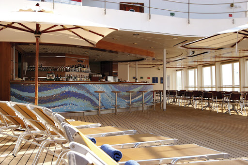 Costa-Victoria-sun-deck - Costa Victoria's sun deck and bar.