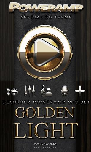 Poweramp Widget Golden Light