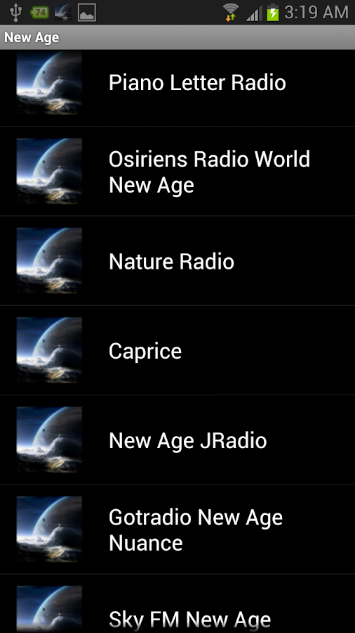 New Age Radios - screenshot