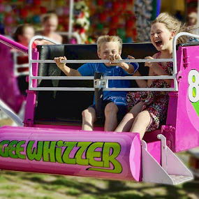 Gee Whizzer by Julien Johnston - City,  Street & Park  Amusement Parks ( ride, park, gee whizzer. children, fun, fair,  )