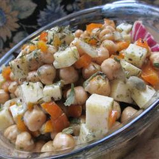 Chickpea and Cheese Salad