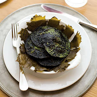 Grilled Portobello Mushrooms with Tarragon-Parsley Butter.