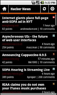 Hacker News Droid - screenshot thumbnail
