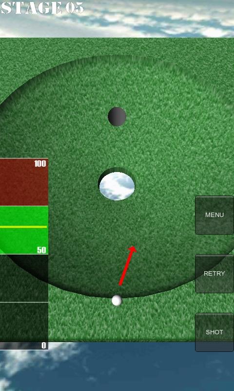 One Shot Putting Golf- screenshot
