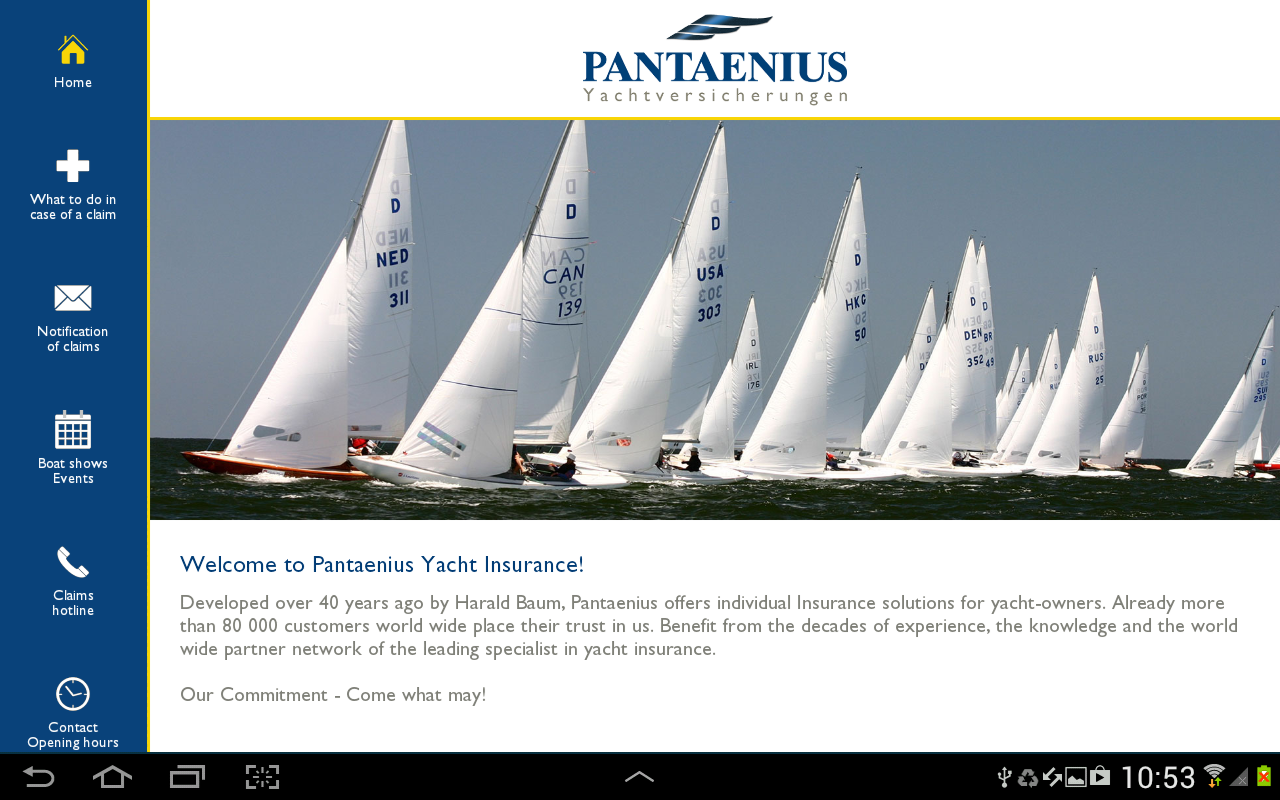 Pantaenius Yacht Insurance- screenshot