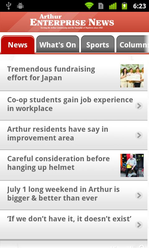 Arthur Enterprise News - screenshot
