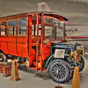 Old Truck, Evergreen Aviation Museum, Oregon by Arvind Mallya - Transportation Automobiles ( oregon, evergreen museum, red truck, usa, old truck )