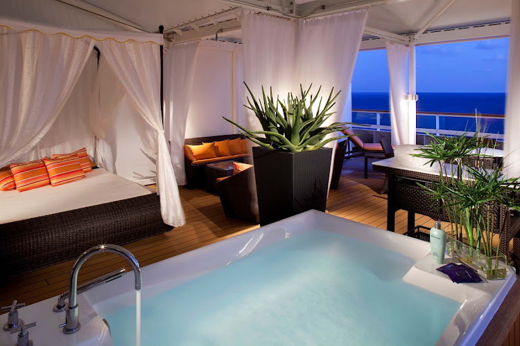Escape to a private, personal spa hideaway on your Seabourn ship.