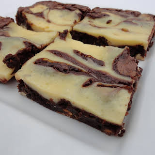 Guiness Brownies with Bailey's Cream Cheese Swirl.
