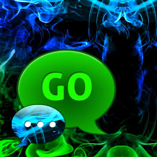 GO短信加强版主題綠色的煙霧 LOGO-APP點子