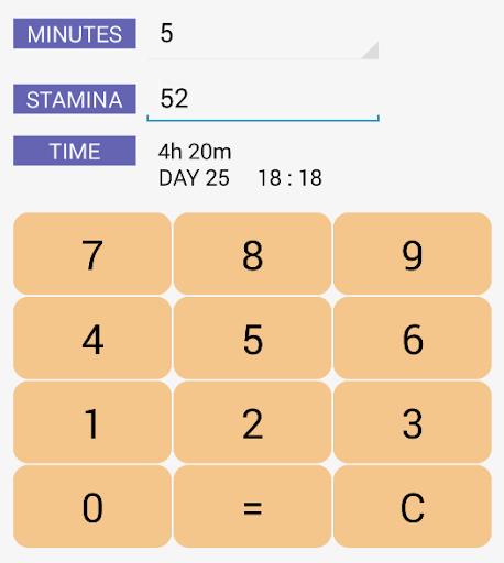 Stamina Calculator