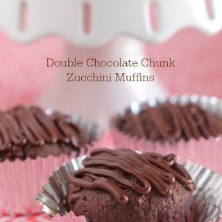 Double Chocolate Chunk Zucchini Muffins.