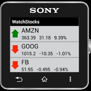 WatchStocks SmartWatch2 Stocks