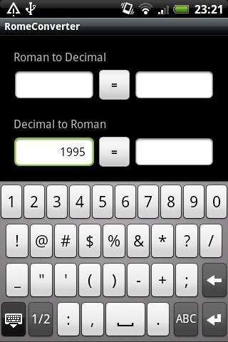 Roman Numeral Converter- screenshot