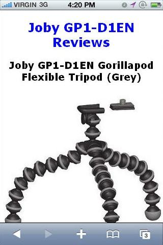 GP1D1EN Flexible Tripod Review