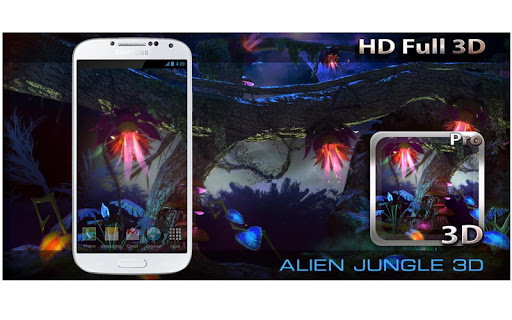 Alien Jungle 3D Live Wallpaper app for Android screenshot