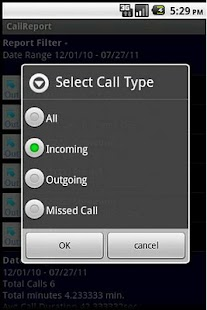 Call Report - screenshot thumbnail
