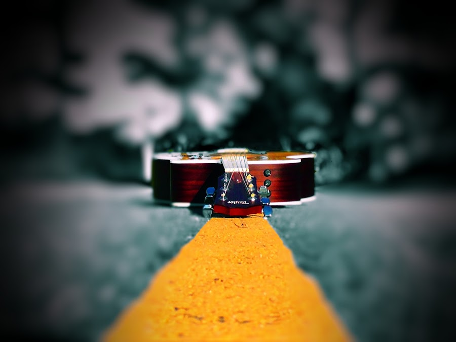 On the Road Again by Janette Vohs - Artistic Objects Musical Instruments (  )