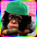 Sweet monkey to dress icon