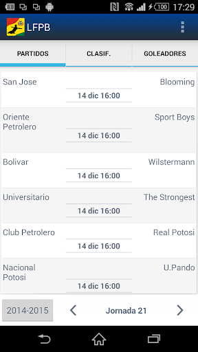 LFPB Liga de Fútbol Boliviano