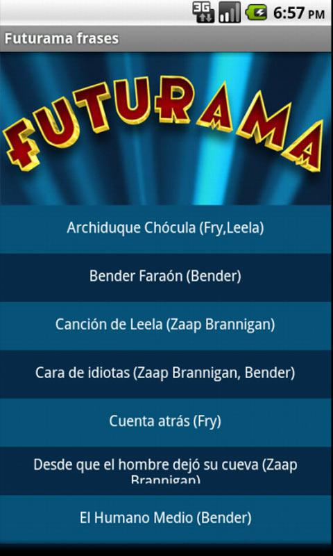 Futurama frases - screenshot